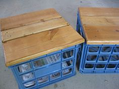 File (or milk) crate seats