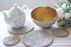 Kodin Kuvalehti – Blogit | Ruususuu ja Huvikumpu – Muovailubetonilla teet itse helposti upeat pannunaluset ja kauniit ruukut sekä kulhot