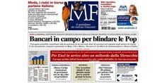 Le prime pagine quotidiani italiani su economia / finanza
