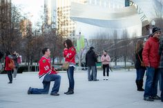chicago proposal | the bean, millenium park. My sister in law!