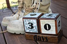 Countdown Blocks for Military Deployments by AlaynasCreations, $21.00