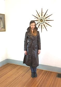 Vintage 70s Joanna Fine Leather's Trench by PosiesForLuluVintage #RaincoatsForWomenLongSleeve