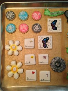 Hand painted and airbrush cookies.... These are fun :).....first try at these...