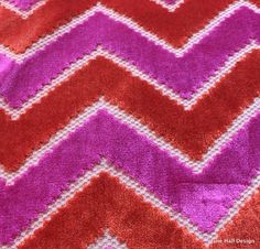 Maxwell, Pink and Orange, Cut Velvet Upholstery Fabric, From Jane Hall Design Upholstery Repair, Velvet Upholstery Fabric, Upholstery Nails, Upholstery Cushions, Upholstery Cleaner, Furniture Upholstery, Tufted Headboards, Living Room Upholstery, Tapestry Fabric