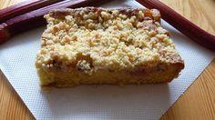 smaki życia Ewy: Ucierane ciasto z rabarbarem