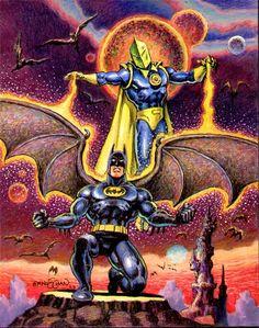 Dr. Fate Grants Batman His Wings by Ernie Chan