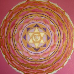 Mandala of the Divine Feminine and Higher Heart by Julie Frost Spiritual Drawings, Spiritual Paintings, Chakra Art, Heart Chakra, Mandala Drawing, Mandala Art, Medicine Wheel, Triquetra, Circle Of Life