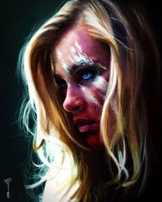Clarke Griffin, beautiful art.