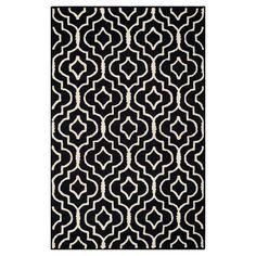 Safavieh Tahla Texture Wool Rug - Black / Ivory (4' X 6'), Black/Ivory