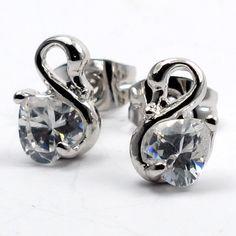 Little Heart Swan Earrings Special Price: $28.00