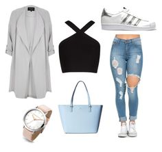 """""""Geen titel #73"""" by mxvdx on Polyvore featuring mode, BCBGMAXAZRIA, River Island, adidas Originals en Kate Spade"""