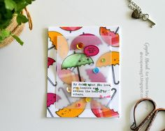SSS May card kit 2016; SSS Happy Thoughts; SSS Happy Days; vellum; umbrellas; Pinkfresh stickers