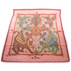 This is an authentic HERMES Cashmere Silk Legende Kuna Peuple de Panama Scarf 90.   The exquisite detail and exceptional quality of this Hermes scarf make it a fabulous fashion accessory.
