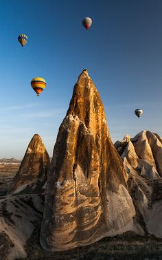 Cappadocia, Turkey. Hot air ballooning here was one of the best experiences