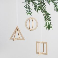 3 dimensional geometric pendants, by Snug