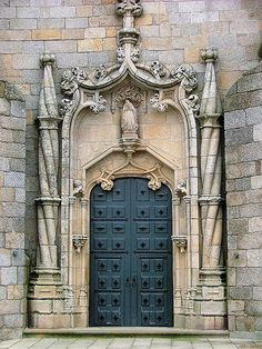 Door in Guarda, Portugal