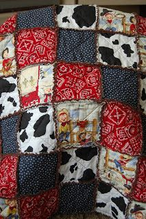 ***Cowboy Rag Quilt*** I love making these Rag Quilts... This one turned out sooo cute!!! Now what to do with it?? I'm sure I will find a cu...