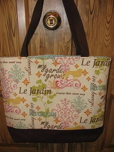 Tote Bag  by SewLeighMyOwn, $30.00