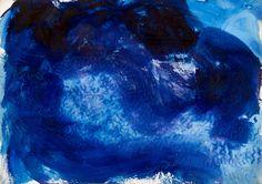 Jean Messagier Sans titre bleu Galerie D'art Moderne, Paris 13, Collection, Artist, Blue