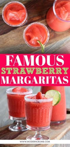 frozen margarita recipes THE BEST strawberry you will ever have. Quick and easy to make in a blender with minimal ingredients. Using fresh and frozen makes this the most flavorful margarita ever. Frozen Margaritas, Frozen Strawberry Margarita, Strawberry Drinks, Frozen Drinks, Recipes With Frozen Strawberries, Frozen Strawberry Recipes, Frozen Fruit, Margarita Blender, Gastronomia