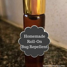 Roll-on bug repellent, all natural bug repellent, homemade, repel bugs, repel ticks, mosquitos and more. DIY Roll-On Bug Repellent.
