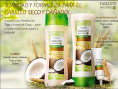 Cuida tu Cabello Seco y Dañado con el #Champú y el #Acondicionador Nature Secrets de #Oriflame. Con Proteína de Trigo y Aceite de Coco.