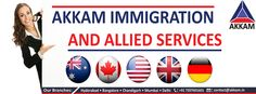 Akkam Overseas Services Pvt.Ltd.is a India's No 1 Visa & Immigration Consultants in Hyderabad, Bangalore, Chandigarh and Mumbai. We Provide Permanent Residency (PR) Visa for Australia, Canada with 100% Success rate, Also We deal with Student,  Invest, Visit, Immigration for Australia, Canada, USA, UK. visit us: www.akkam.in Call us +91-7207601601
