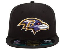 Baltimore Ravens NFL On Field Men s 59FIFTY Fitted Hat Multiple Sizes NEW  Fitted Baseball Caps 42457fdcd