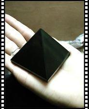 "Metaphysycal Sweet Large 80mm 3"" Black Agate Point Energy Pyramid Healing Reiki"