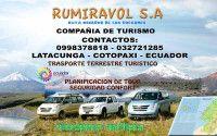 COMPAÑIA DE TRANSPORTE TURISTICO RUMIRAVOL S.A. - Akyanuncios.com - Publicidad con anuncios gratis en Ecuador