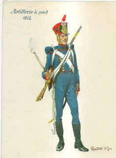 French; Foot Artillery, Gunner 1812 by H.Knotel