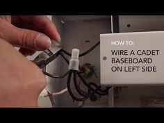 how to install an electric baseboard heater from cadet youtube thomas with cadets tech support team shows you which connection to cut when wiring a cadet baseboard heater on the left hand side swarovskicordoba Gallery