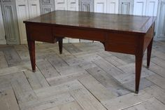 A good quality, mid 19th century French mahogany five drawer desk with brushing slides, retaining the original leather top and brasswork. Antique Desk, Antique Furniture, Desk With Drawers, Brushing, French Antiques, 19th Century, The Originals, Interior, Leather
