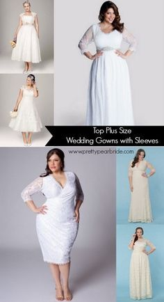 {Fashion Friday} Top Plus Size Wedding Dresses with Sleeves | The Pretty Pear Bride - The World's Magazine for Plus Size Brides