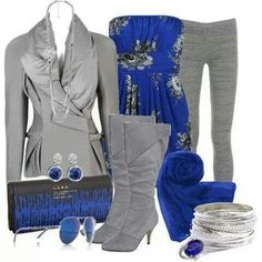 Business Fashion. Women's suits. Work attire. Work outfit. Business outfit. Women's Fashion. Women's outfit. Business casual. Women's business casual. Boots. Gray outfit.