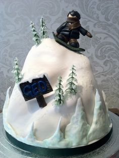 Snowboarding Cake! By FlourpowerbyNina on CakeCentral.com