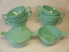vintage-turquoise-melmac-10-piece-set