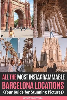 If you're coming to Spain and would like to know what are the most Instagrammable places in Barcelona to fill up your social media pages, then you're in luck, my friend. In fact, thanks to Antoni Gaudi, the architect who has transformed the city into what it is today, there are endless beautiful places to go in Barcelona #spaintravel #barcelonatravel #instagram #barcelonaphotography Barcelona Travel Guide, Spain Travel Guide, Cool Places To Visit, Places To Go, Antoni Gaudi, Nice View, Day Trips, Travel Inspiration, Traveling By Yourself