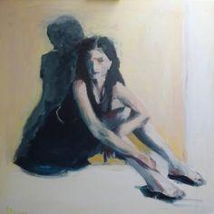 "Saatchi Art Artist jacqueline hoebers; Painting, ""Black dress"" #art"