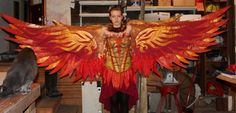 Narnia Costumes, Diy Costumes, Cosplay Costumes, Halloween Costumes, Halloween Makeup, Costume Ideas, Steampunk Wings, Steampunk Cosplay, Fire Costume