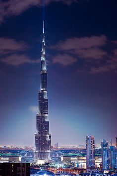 Burj Khalifa, Skyscraper in Dubai, United Arab Emirates.