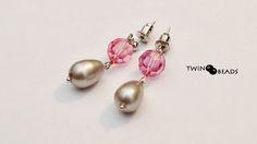 swarovski and pearls earrings