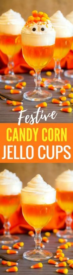 Candy Corn Jello Cup
