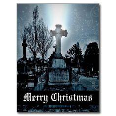 Magie in den Friedhof gotischen frohen Weihnachten Postkarte
