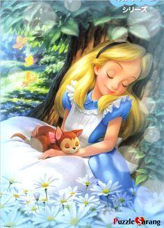 Alice in Wonderland puzzle Disney Fan Art, Disney Love, Alice Disney, Punk Disney, Disney Style, Adventures In Wonderland, Alice In Wonderland, Disney Kunst, Disney Pictures