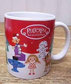 Rudolph The Red Nosed Reindeer Land of Misfit Toys Cofee Mug Cup Bay Island Santa | eBay