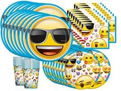 Emoji Birthday Party Supplies Bundle Pack for 16 >>> You can find out more details at the link of the image.