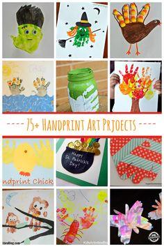 75+ Handprint Art Projects // 75 proyectos de arte con la huella de la mano