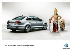 This Volkswagen Jetta Ad brings in some creative freshness. Advertising Agency: JWT, Bangalore, India