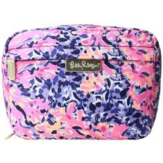 Lilly Pulitzer Travel Cosmetic (Multi Coco Coral Crab) Cosmetic Case found on Polyvore featuring beauty products, beauty accessories, bags & cases, dop kit, cosmetic purse, make up purse, make up bag and toiletry bag